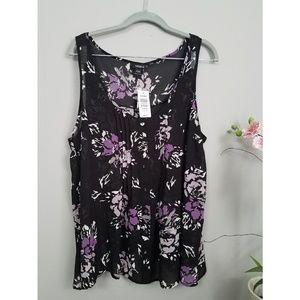 torrid floral sleeveless top